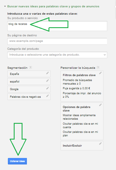 ideas para Adwords