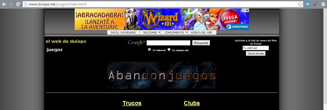 ejemplo de banner en header