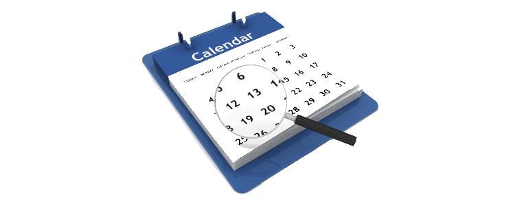 Calendario de publicación