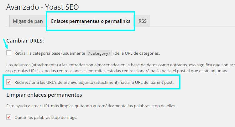 Configurando permalinks en WordPress
