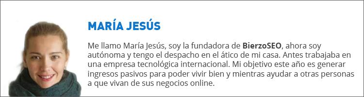 María Jesús, autora invitada