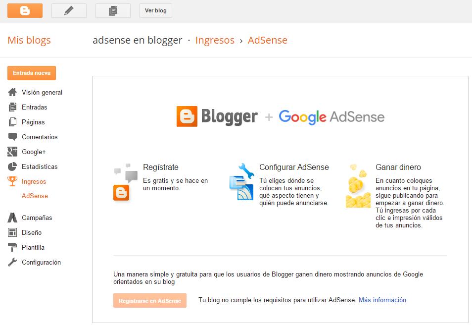 adsense en blogger
