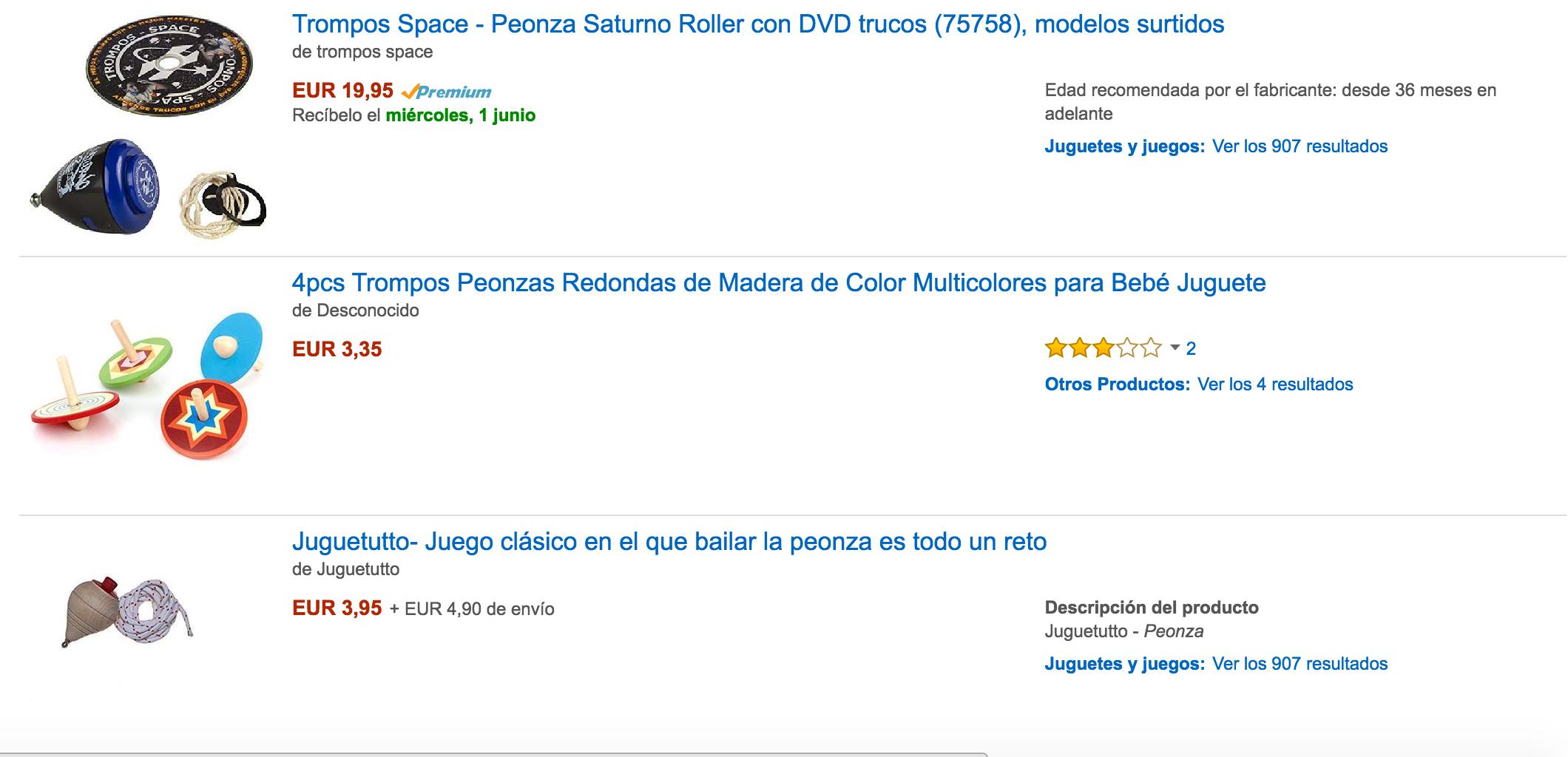 Catálogo en Amazon