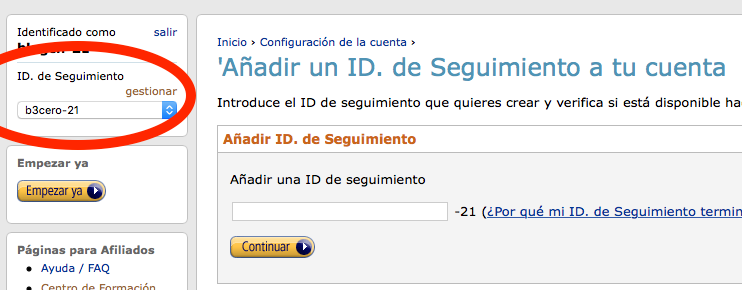 ID de seguimiento