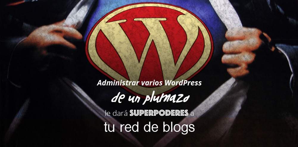 Administrar WordPress multisitio