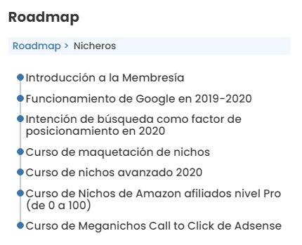 roadmap nichero seowarriors